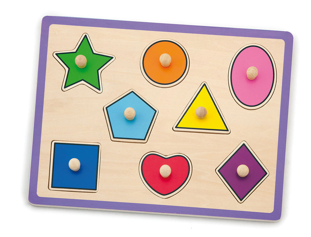 Viga Wooden Flat Puzzle - Shapes
