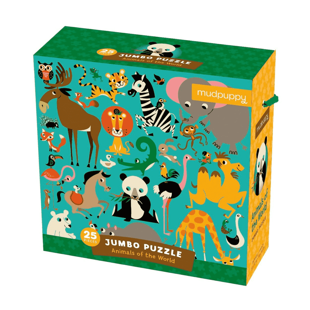 Mudpuppy Jumbo Puzzle - Animals of The World