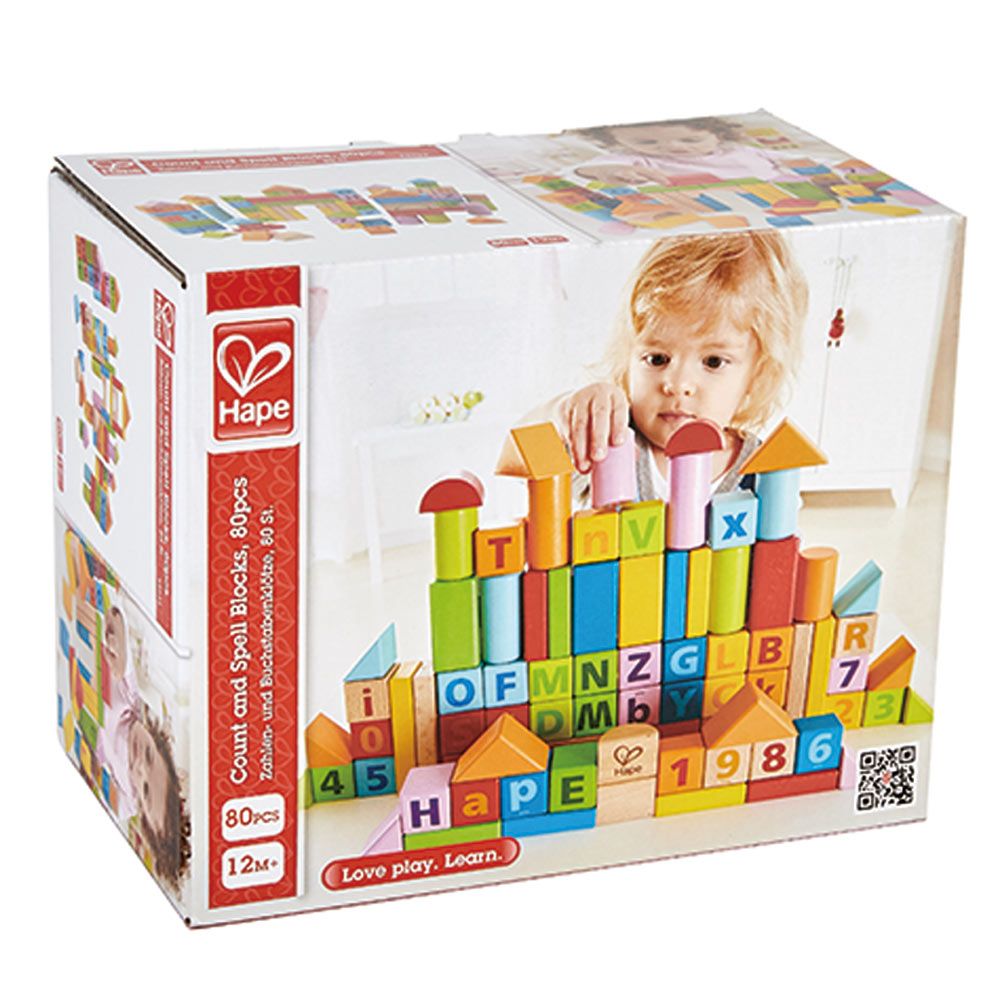 Hape Count and Spell Blocks (80pcs)