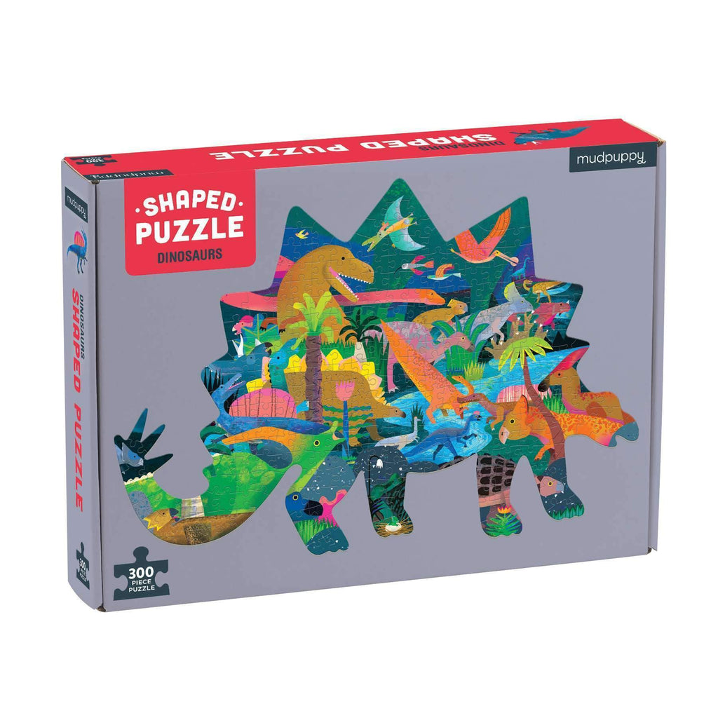 Mudpuppy Shaped Puzzle - Dinosaurs