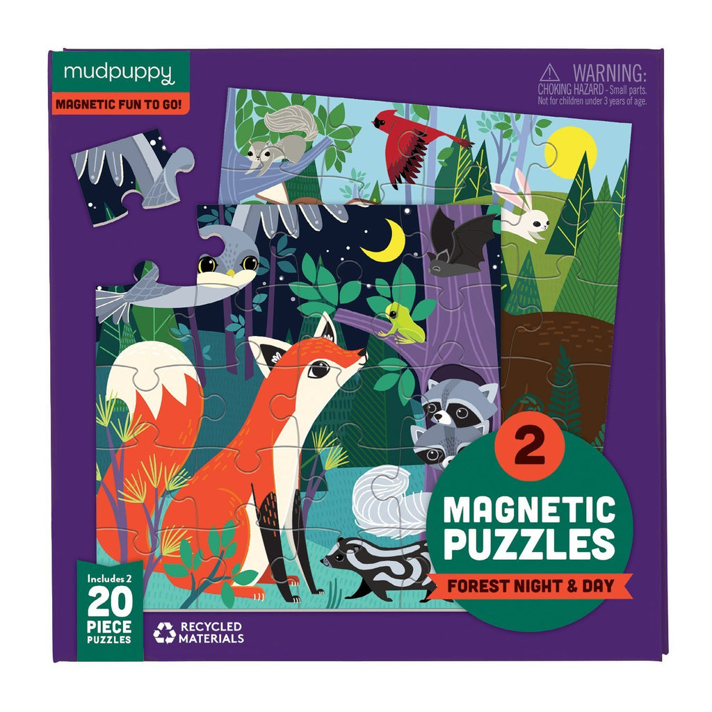 Mudpuppy Magnetic Puzzles - Forest Night & Day