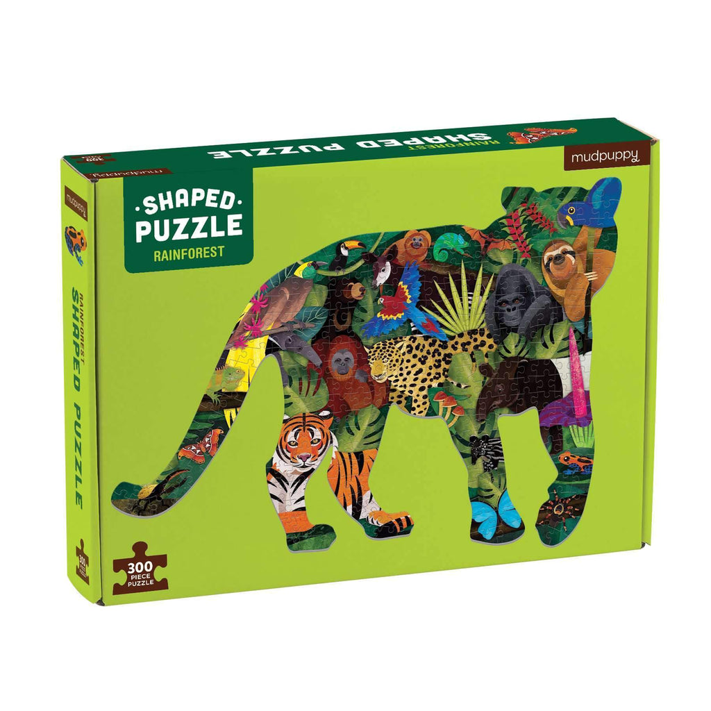 Mudpuppy Shaped Puzzle - Rainforest