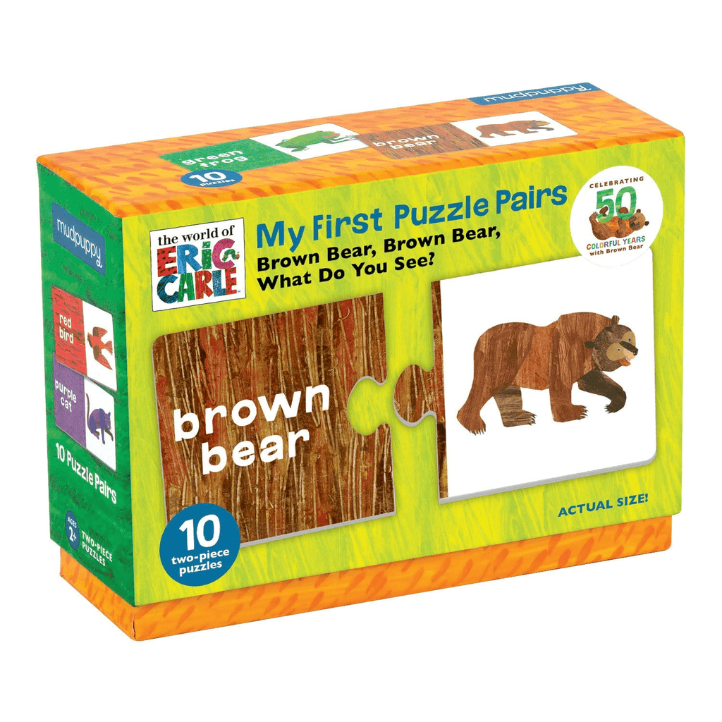 Mudpuppy My First Puzzle Pairs - Brown Bear