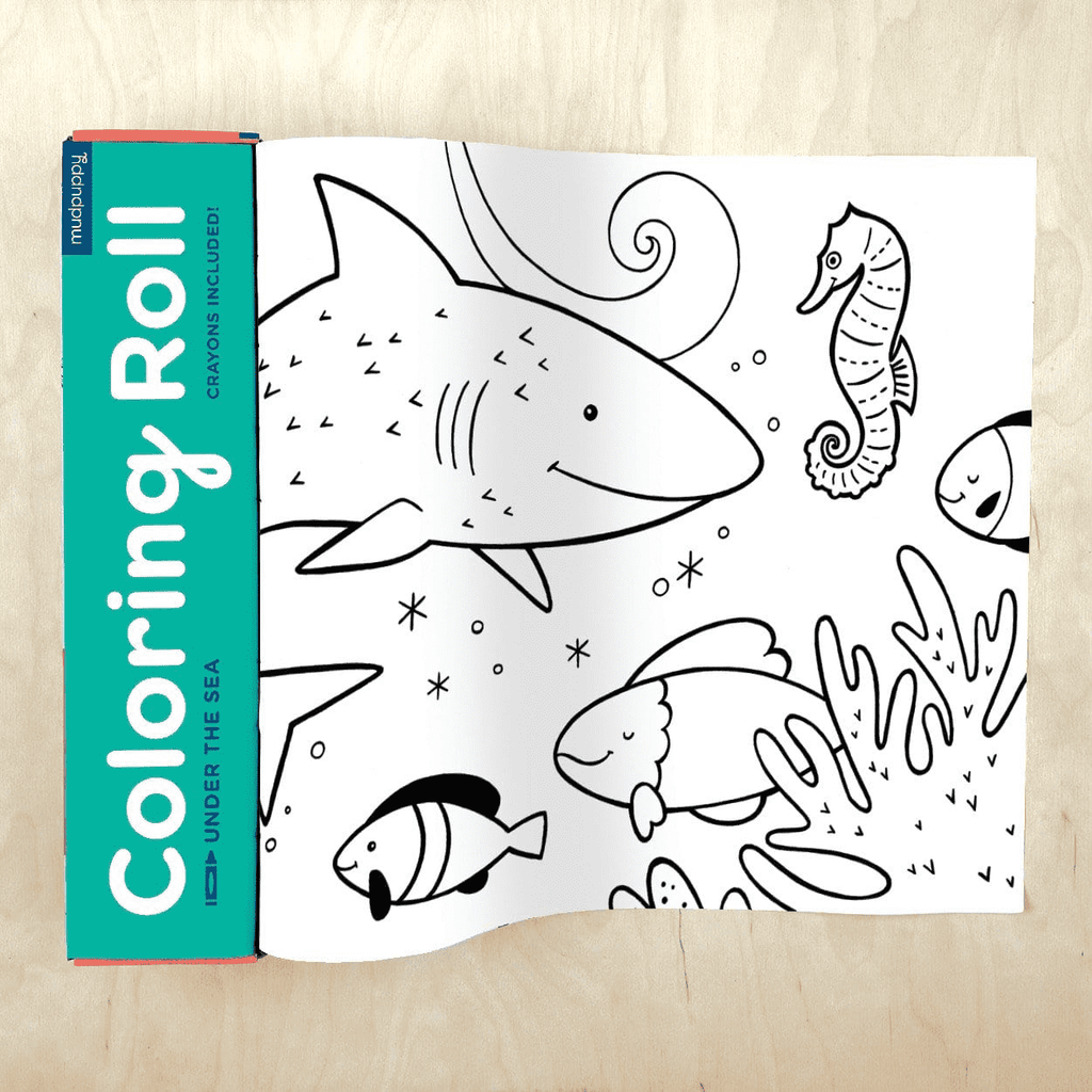 Mudpuppy Coloring Roll - Under The Sea