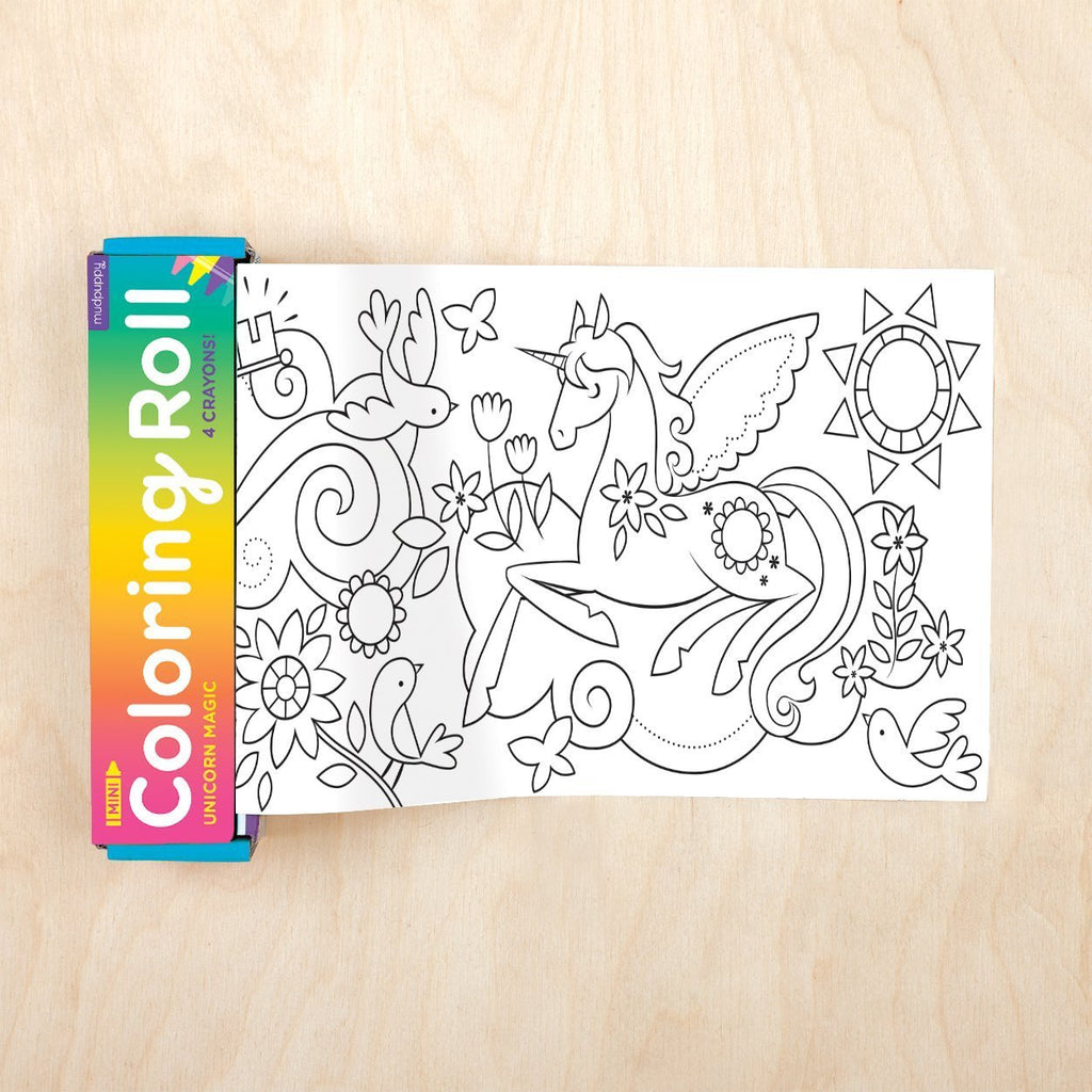 Mudpuppy Mini Coloring Roll - Unicorn Magic