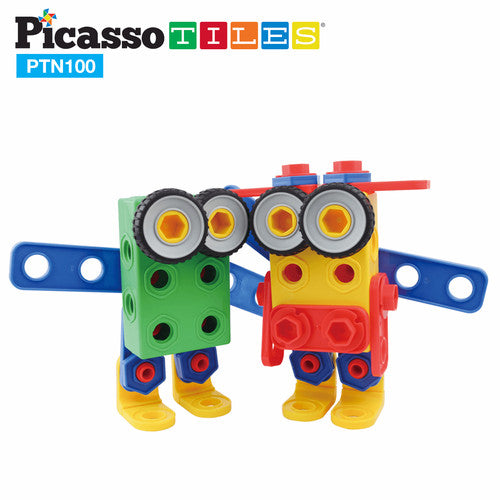 PicassoTiles Nut & Bolts Construction Set - PTN100