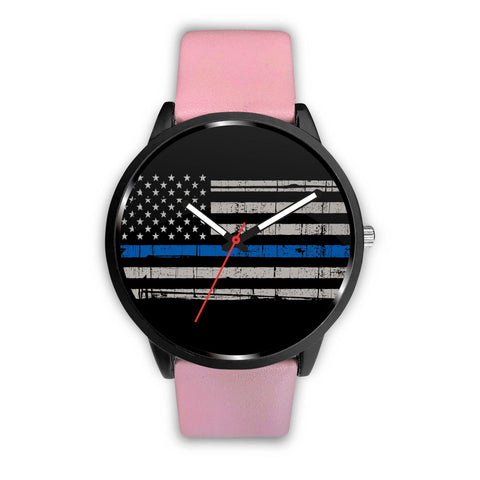 Support your Police! Thin blue line Custom watch
