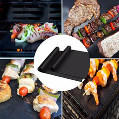 3pcs/5pcs Reusable Non-Stick BBQ Grill Mat