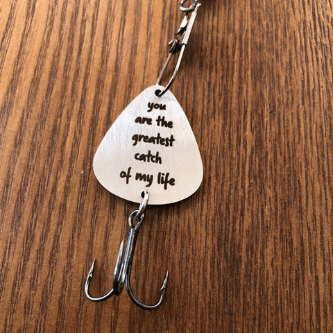 Fishing stainless steel necklace