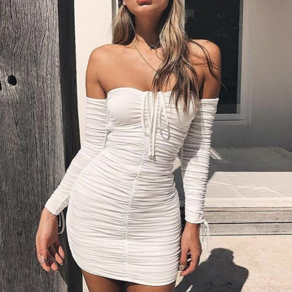OFF THE SHOULDER BODYCON DRESS