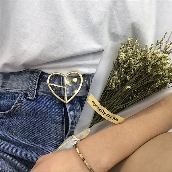 """HEART X CIRCLE"" TRANSPARENT BELT"