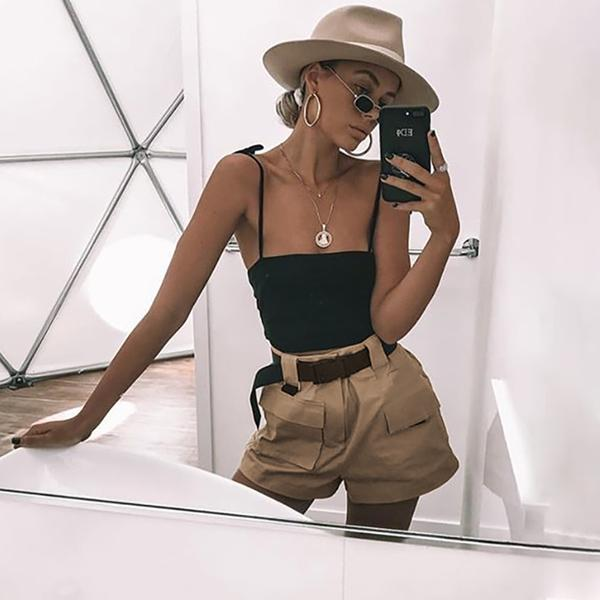 """DESERT"" HIGH WAISTED SHORTS"