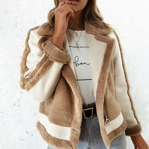 FAUX FUR PATCHWORK JACKET