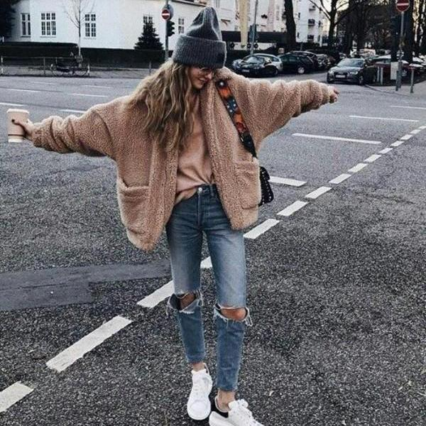 FAUX FUR PIXIE COAT