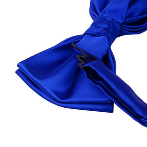 AIRTAILORS™ MENS BlUE SOLID COLOR WEDDING BOWTIE