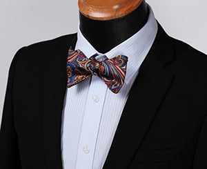 AIRTAILORS™ MES'S FLORAL JACQUARD WOVEN SELF BOWTIE - Airtailors