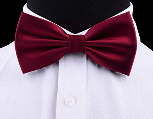 AIRTAILORS™ MENS BURGUNDY WEDDING BOWTIE