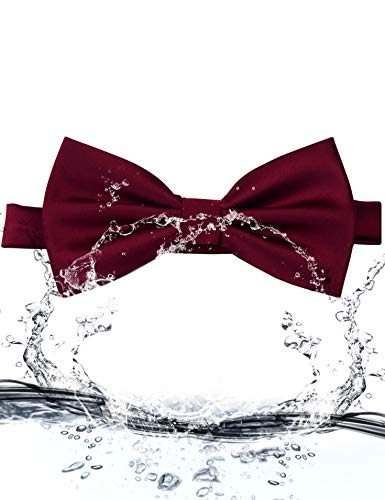 AIRTAILORS™ MENS BURGUNDY WEDDING BOWTIE - Airtailors