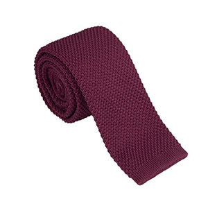 AIRTAILORS™ RED SKINNY KNIT NECKTIE FOR MEN - Airtailors