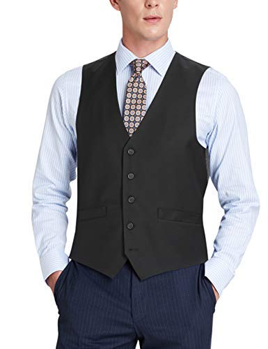 AIRTAILORS ™MENS FORMAL BUSINESS BLACK DRESS VEST - Airtailors