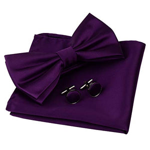 AIRTAILORS™ MENS SOLID PURPLE COLOR WEDDING BOWTIE - Airtailors