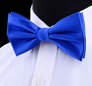 AIRTAILORS™ MENS BlUE SOLID COLOR WEDDING BOWTIE - Airtailors