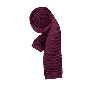 AIRTAILORS™ RED SKINNY KNIT NECKTIE FOR MEN