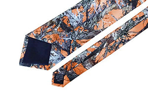 AIRTAILORS ™ MENS ORANGE CAMOUFLAGE NECK TIE FOR GIFT IDEAS