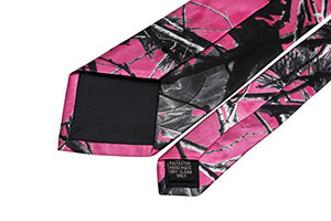AIRTAILORS ™ MENS PINK CAMOUFLAGE NECK TIE FOR GIFT IDEAS