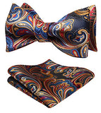 AIRTAILORS™ MES'S FLORAL JACQUARD WOVEN SELF BOWTIE