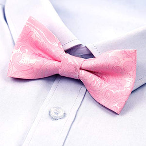 AIRTAILORS ™ Boys  Paisley Floral Strapped Pre-tied Pink