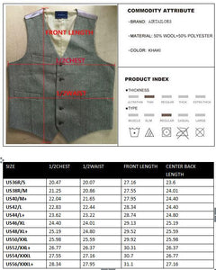 2019 New Rustic Wedding light Gray Donegal Wool Tweed Vests Custom Made Groom's Suit Vest Plus Size