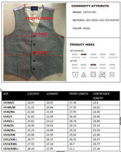 2018 Farm Wedding Brown Wool Herringbone Tweed Vest Custom Made Groom's Vests Slim Fit Plus Size