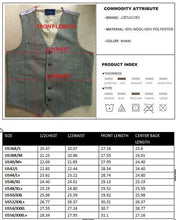 Airtailors  Wool Tweed Vests Groom's Vest Leather Buttons Vests  Dark Brown