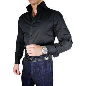 AIRTAILORS™ BLACK DRESS SHIRT - Airtailors
