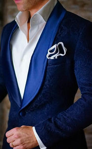 Royal Blue Paisley Dinner Jacket