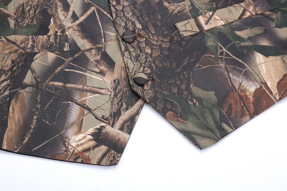 Realtree Camouflage Vest Front Details 2