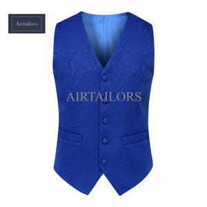 Royal Blue Paisley Vests