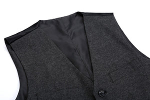 Airtailors Vintag Style Tweed Vest for Rustic Wedding Dark Grey Dress Vest Plus Size