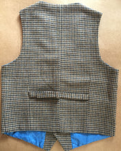 Houndstooth Wool Tweed Vest Back