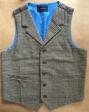 Houndstooth Wool Tweed Vest Brown Front