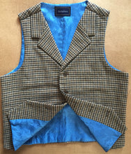 Houndstooth Wool Tweed Vest Front 2