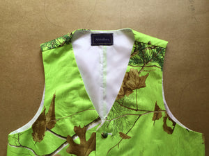 Airtailors Green Realtree Camouflage Vest for Rustic Wedding Fashion Dress Vest For Party