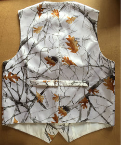 White Realtree Camouflage Vest fabric