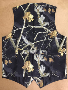Black Realtree Camouflage Vest Side