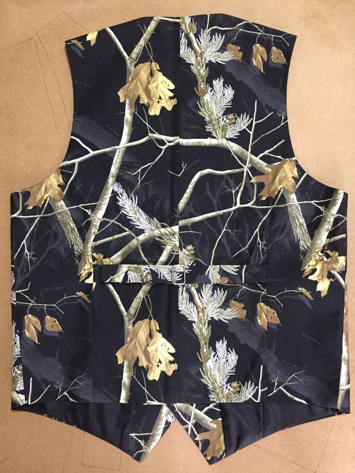 2019 Prom Black Realtree Camouflage Vest