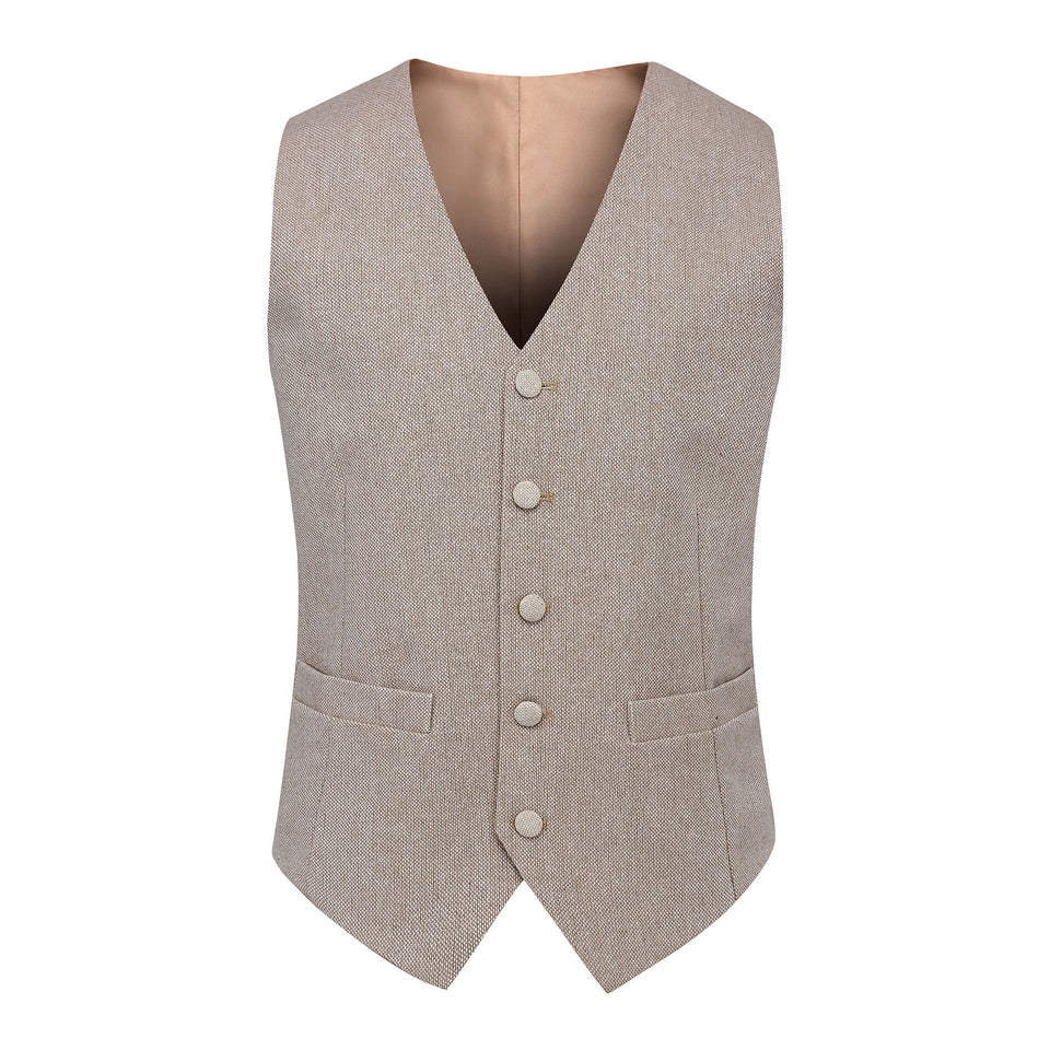 AIRTAILORS™ CHAMPANGE DONEGAL WOOL TWEED VEST