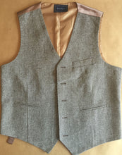 Airtailors 2020 Wool Tweed Vest for rustic barn wedding 5 buttons with Adjustable buckle