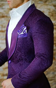 Paisley Purple Prom Suits Side
