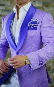 purple jacquard suits men